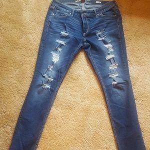 Women's skinny  distressed jeans